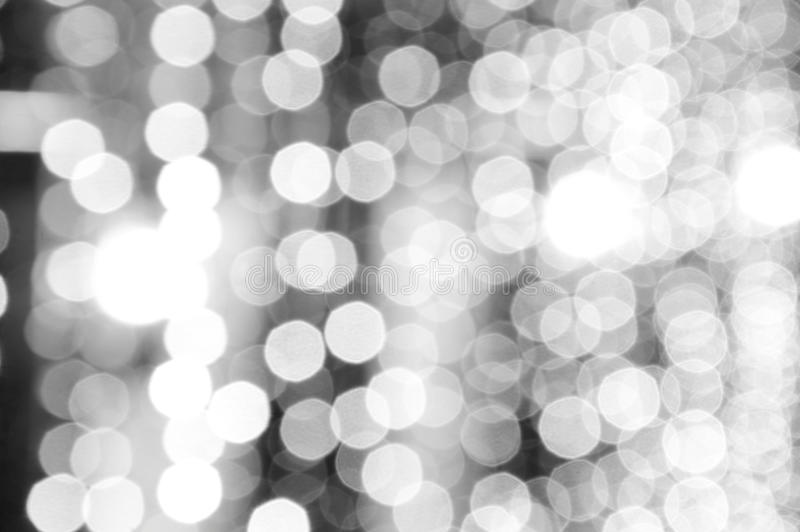 Elegant abstract black and white defocused. Used for background, bokeh light royalty free stock photography