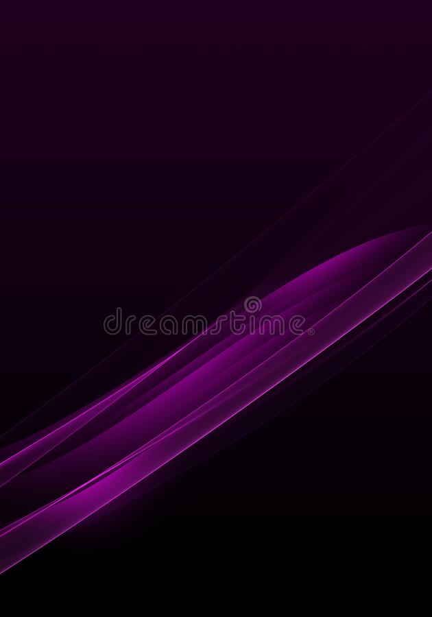 Elegant abstract dark background design with purple curves and space for your text vector illustration