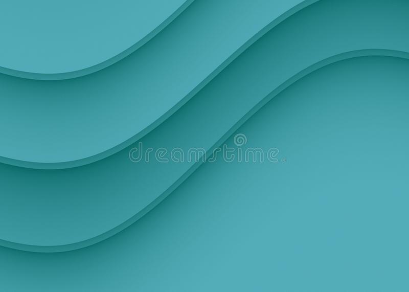 Elegant sapphire blue smooth gentle curves abstract background design stock illustration