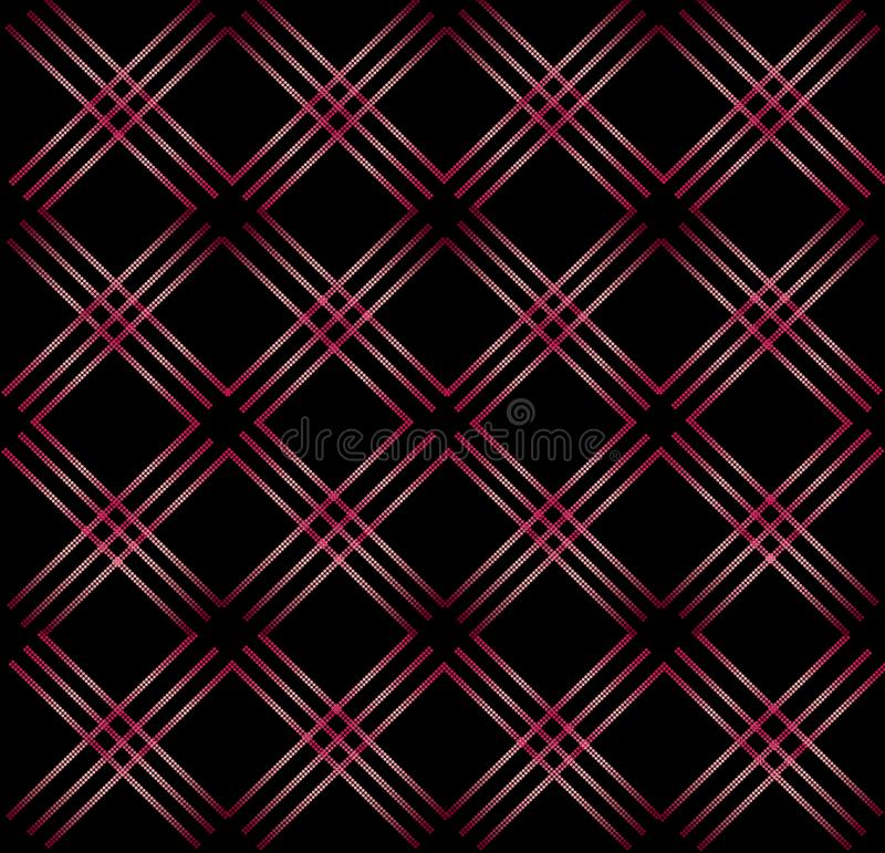 Elegant abstract geometric seamless pattern black background stock illustration