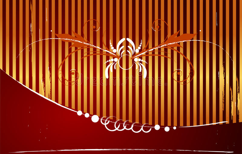 Elegant abstract gold-red christmas background stock illustration
