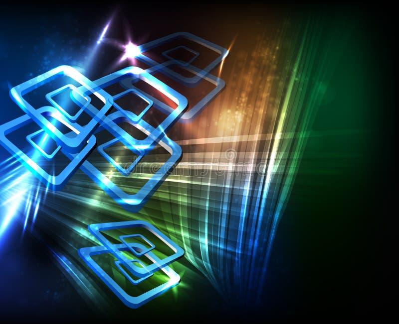 Elegant abstract ontwerp vector illustratie