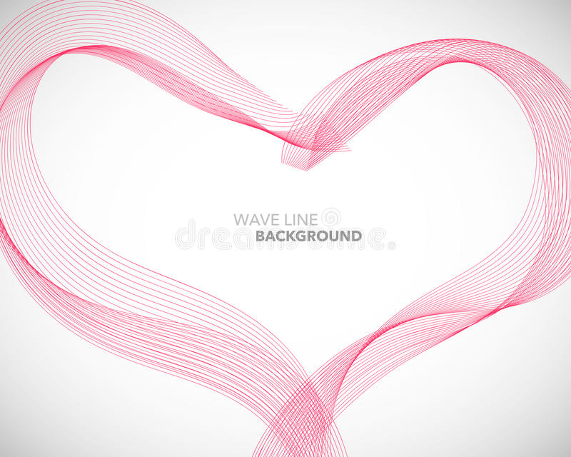 A Elegant abstract vector heart wave line futuristic style background template vector illustration