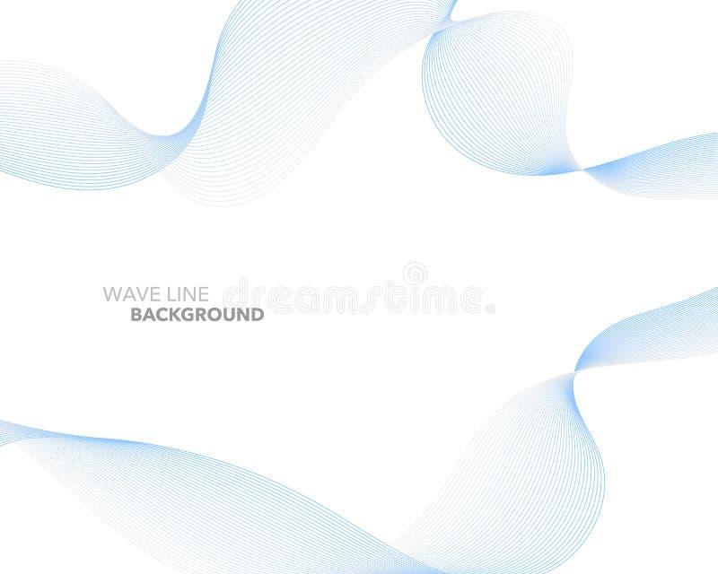 Elegant abstract vector web gradient wave line futuristic style vector illustration