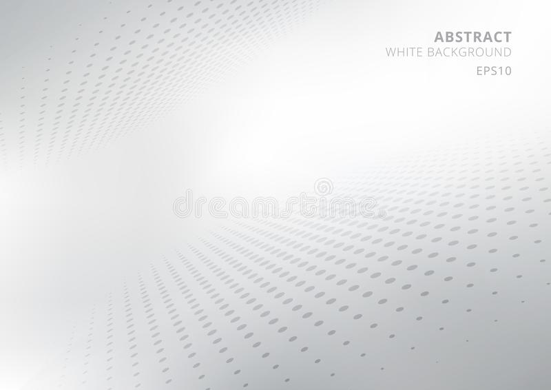 Elegant abstract white and gray gradient perspective background with curved and halftone style. Modern design for report and royalty free illustration
