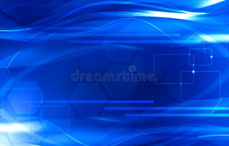 Elegant abstrakt begreppblåttbakgrund royaltyfri illustrationer