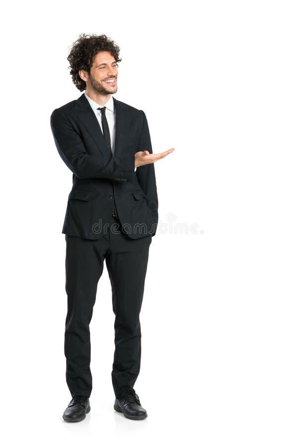 Elegant affärsman Giving Presentation arkivfoton