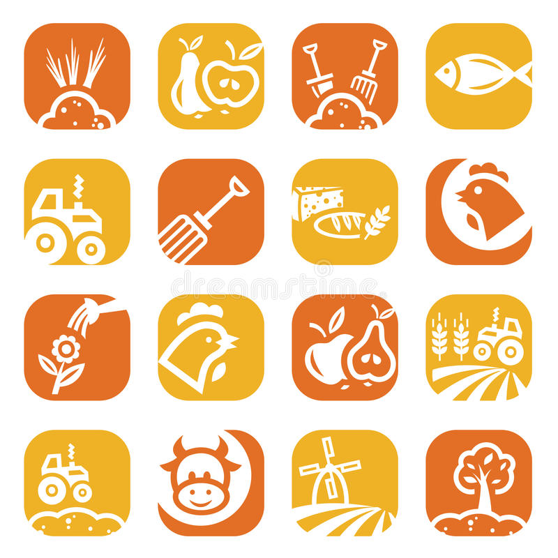 Download Color Agriculture And Farming Icons Stock Vector - Illustration of eggs, illustration: 30026824