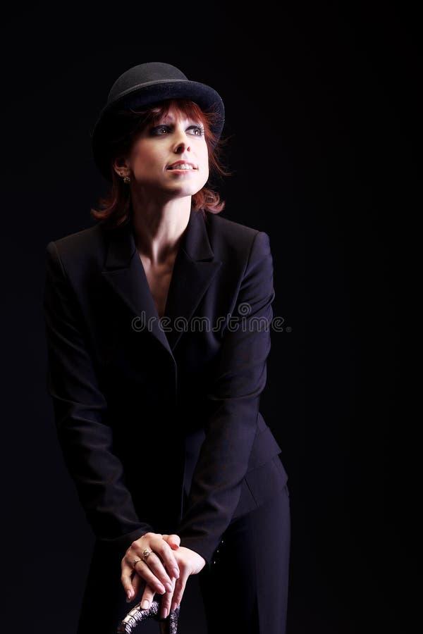 Elegant aktris royaltyfria foton