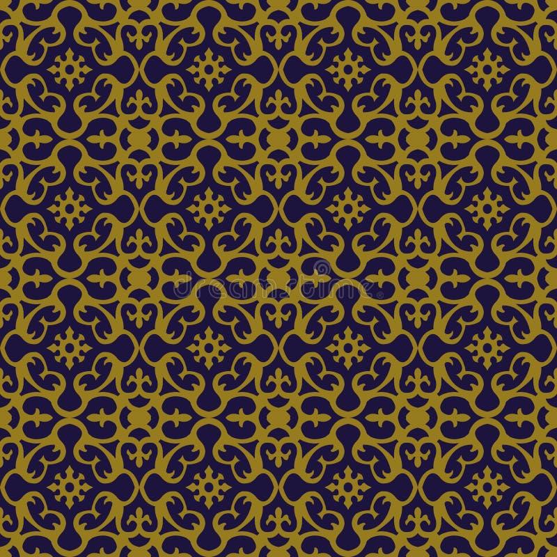 Elegant antik bakgrundsbild av den spiral kalejdoskopblommamodellen royaltyfri illustrationer