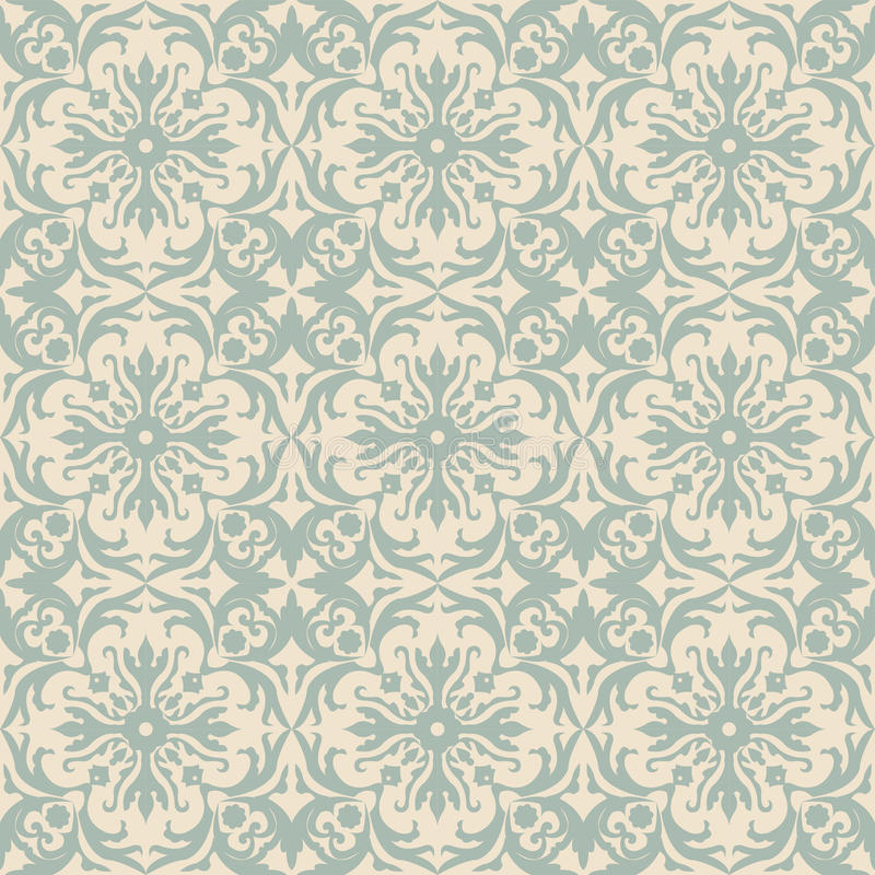 Elegant antique background image of spiral round flower pattern. Antique background image patterns can be used for wallpaper, web page background, surface royalty free illustration