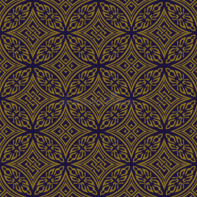 Elegant antique gold brown and blue background 372_round aboriginal cross geometry. Antique background image patterns can be used for wallpaper, web page vector illustration