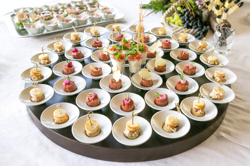 Elegant appetizers royalty free stock photography