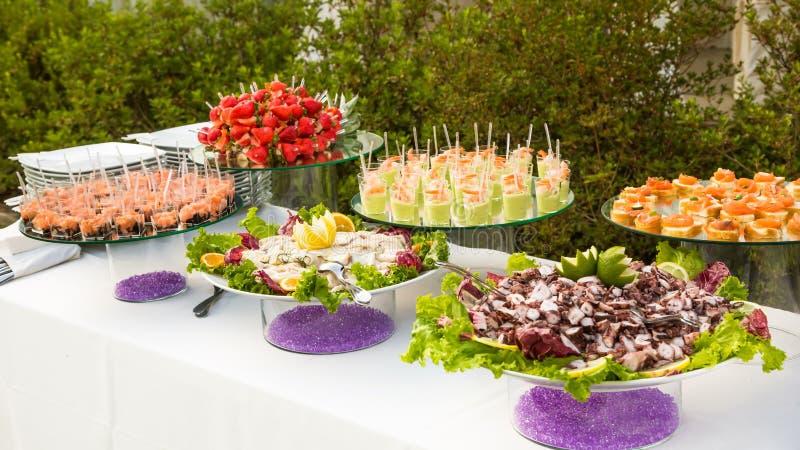 Elegant appetizers royalty free stock image