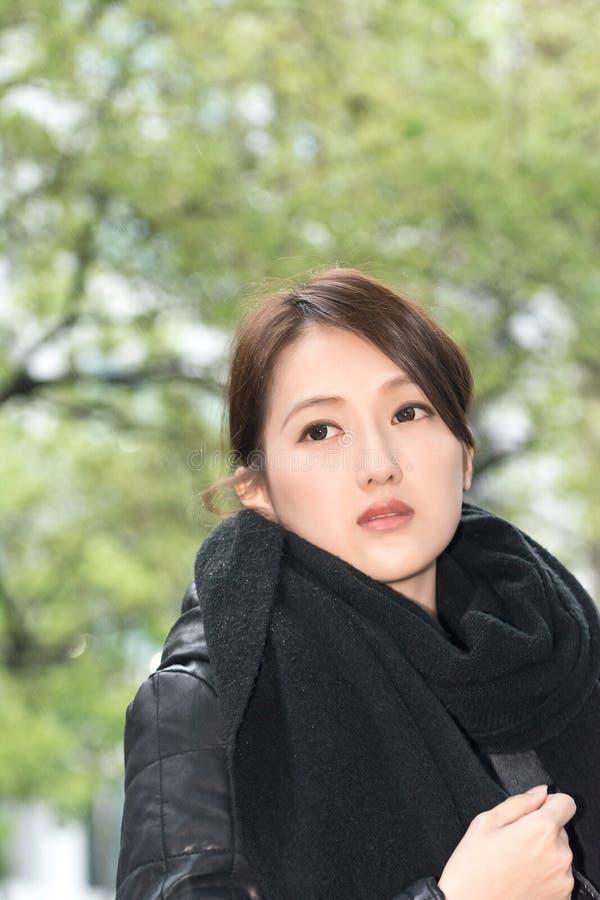 Elegant Asian Woman Of Sadness Stock Images