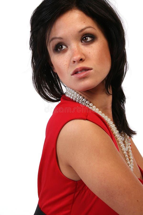 Elegant asiatisk kvinna arkivfoto