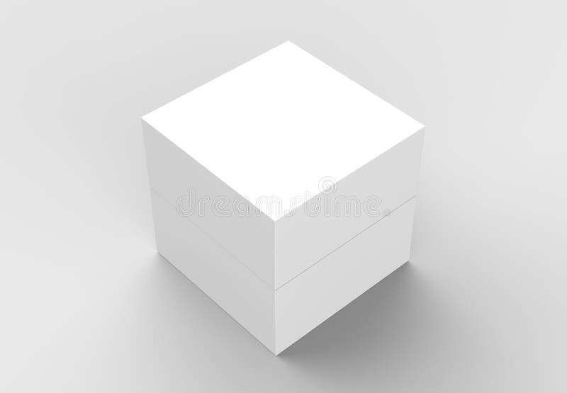 Elegant askåtlöje som isoleras upp på mjuk grå bakgrund illustr 3d royaltyfri illustrationer