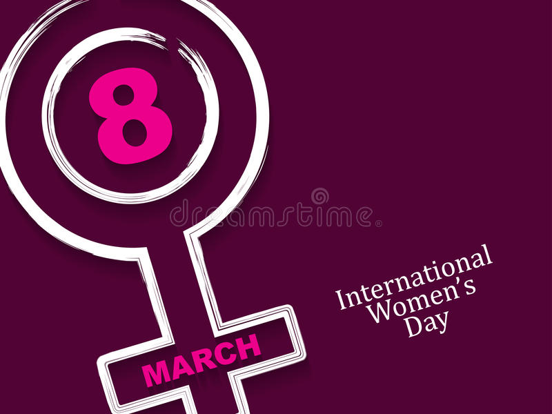 Elegant background design for International Women's Day. vector illustration