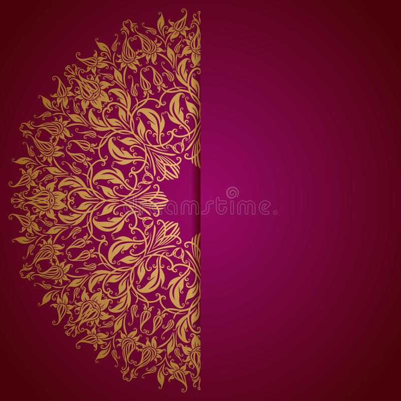 Elegant background with lace ornament stock illustration