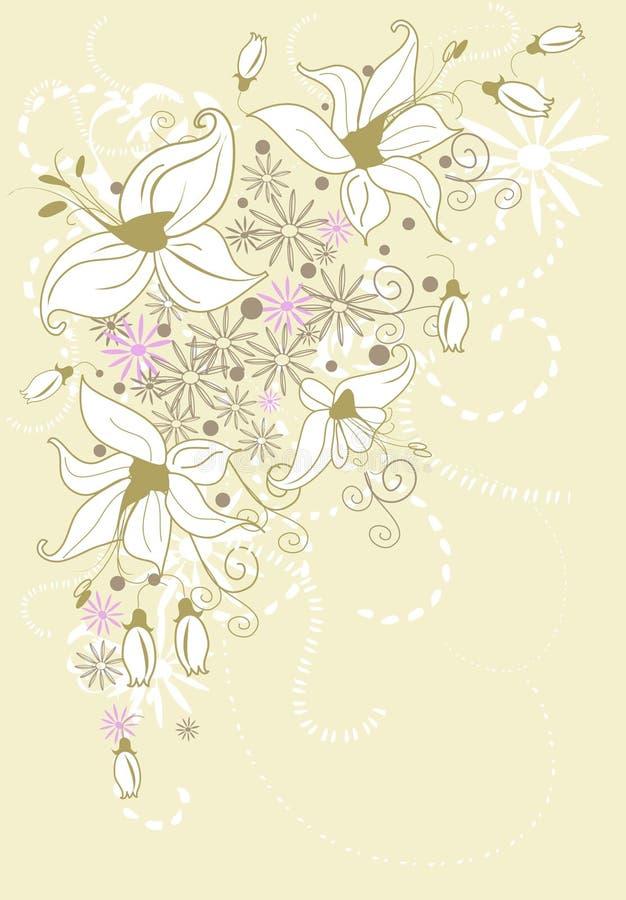 Elegant background of lilies
