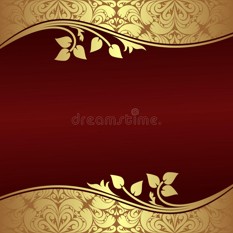 Free Elegant Background With Floral Golden Borders. Royalty Free Stock Photos - 35489878