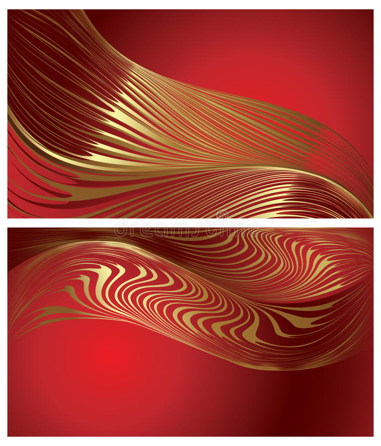Free Elegant Backgrounds With Gold Moire Stock Photography - 14112572