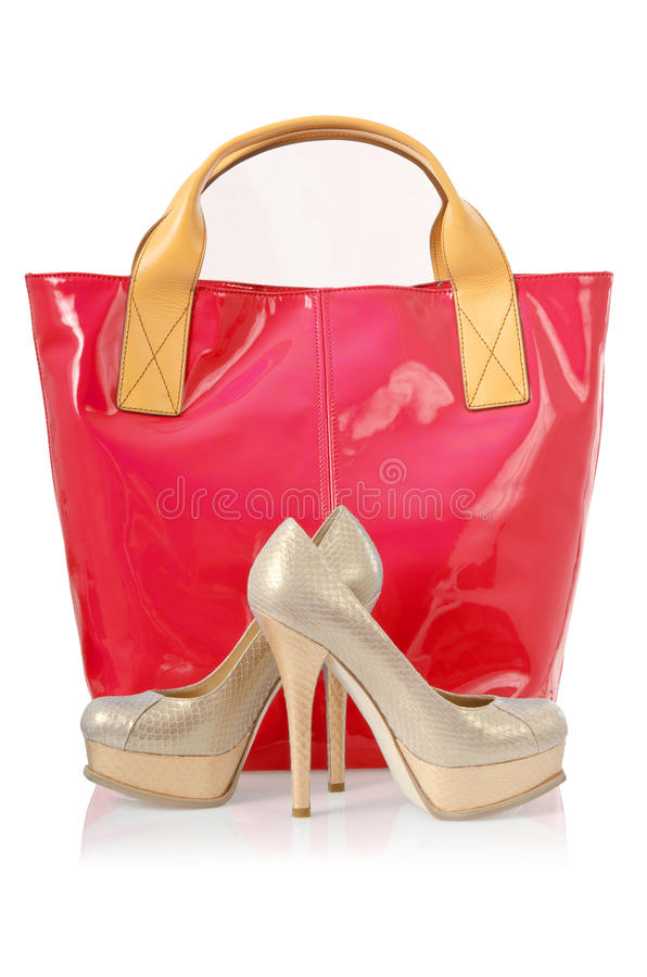 Download Elegant bag and shoes stock photo. Image of shiny, accessory - 28350074