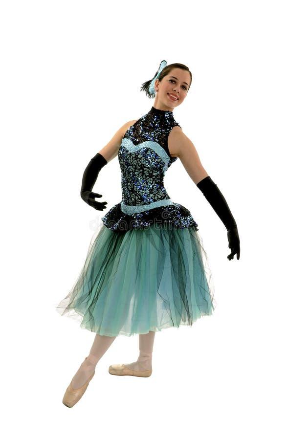 Elegant Ballerina In Romantic Length Costume Stock Photo