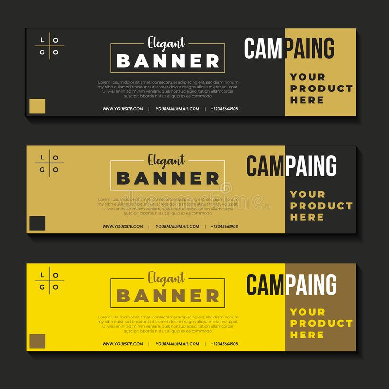 Elegant banner design conceptual vector vector illustration