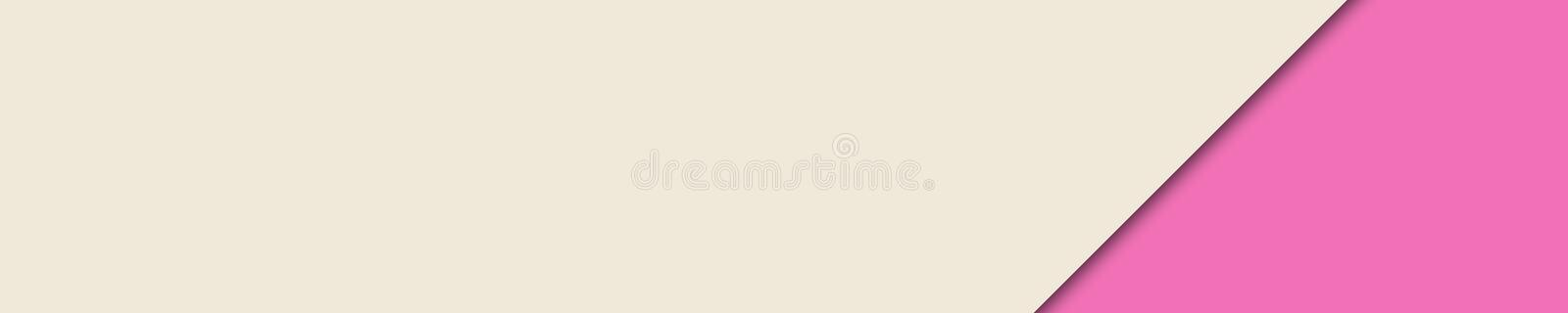Elegant banner pink and beige colors for website stock photos