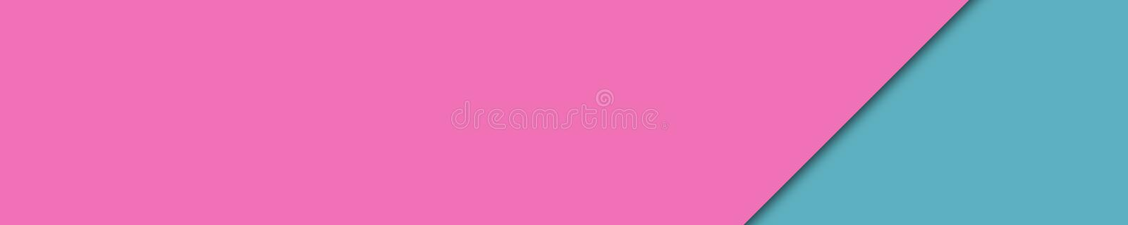 Elegant banner pink and turquoise colors for website royalty free stock images