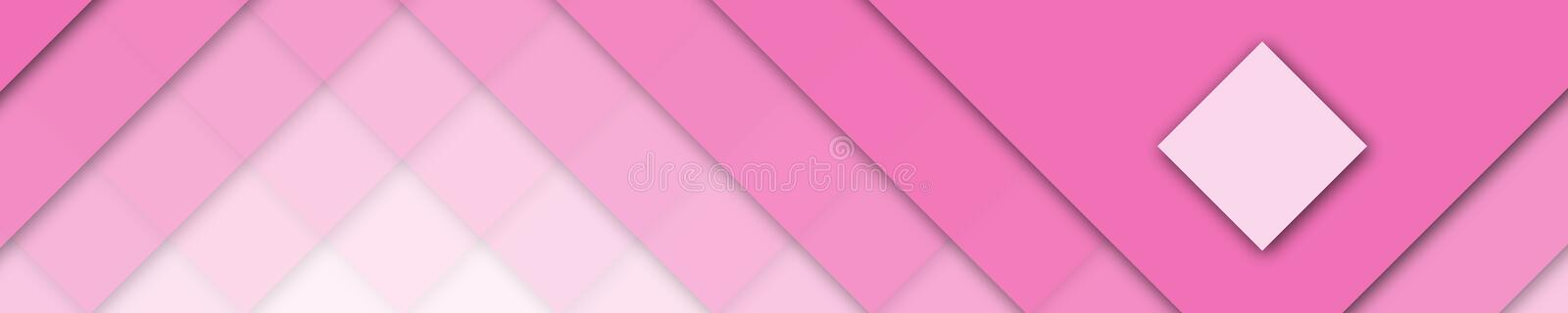 Elegant banner pink and white colors for website royalty free stock photography