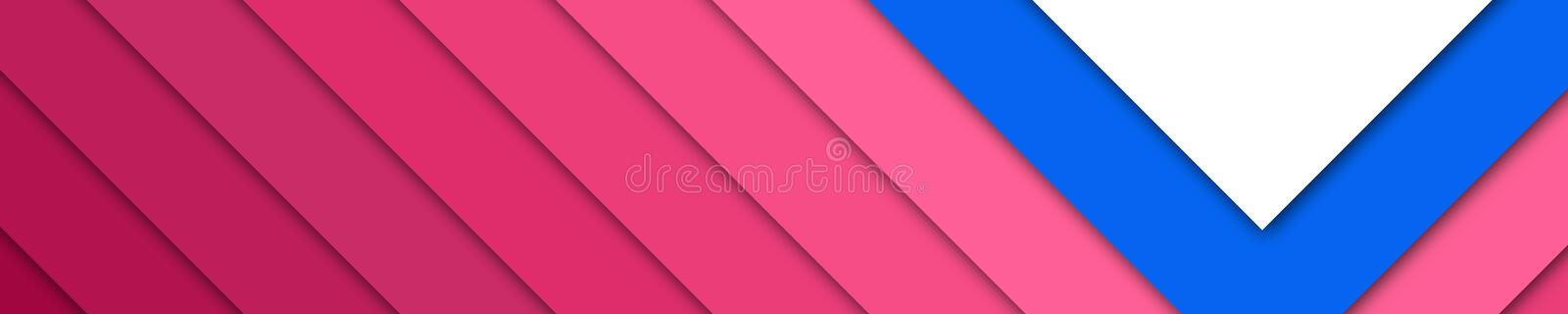 Elegant banner red, blue and white colors for website stock image