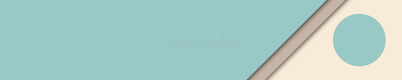 Elegant banner turquoise, brown and beige colors for website royalty free stock image