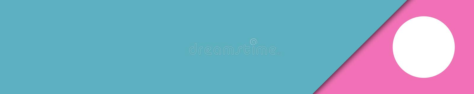 Elegant banner turquoise and pink colors for website stock images