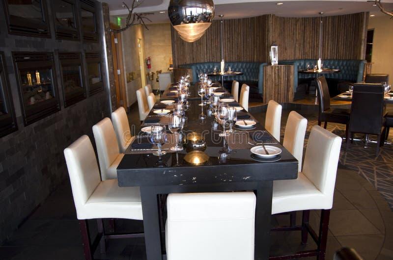 Elegant bar restaurant stock image