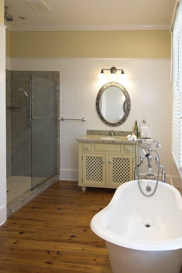 Elegant Bathroom With Clawfoot Tub Royalty Free Stock Photo