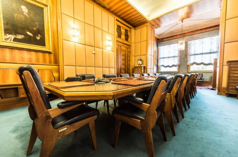 Elegant Conference Room With Vintage Interior Stock Image Image Of - Elegant conference table