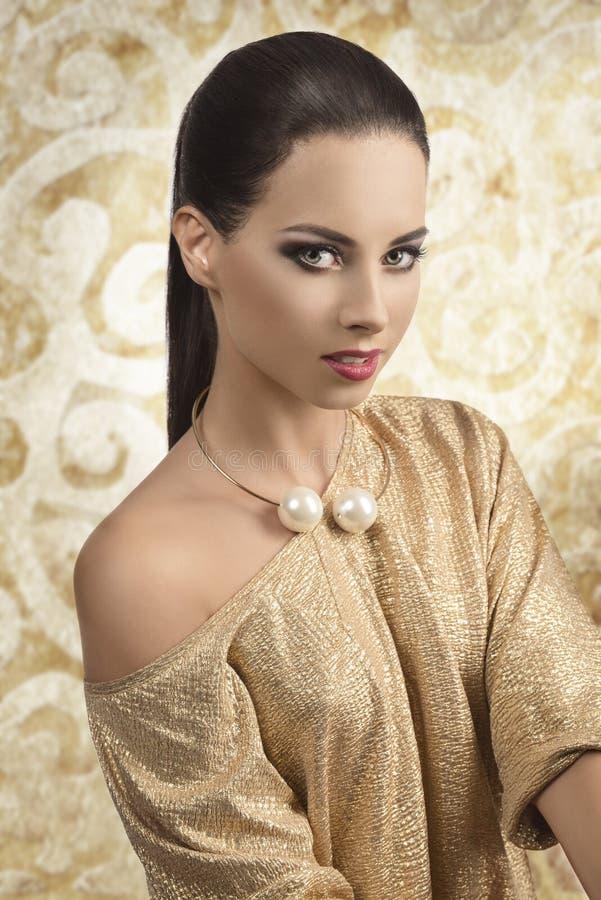 Elegant beautiful woman royalty free stock photography
