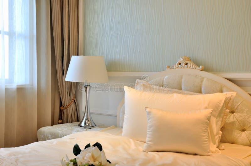 Download Elegant Bedroom Interior Decoration In White Stock Photo - Image of simple, elegant: 21733416