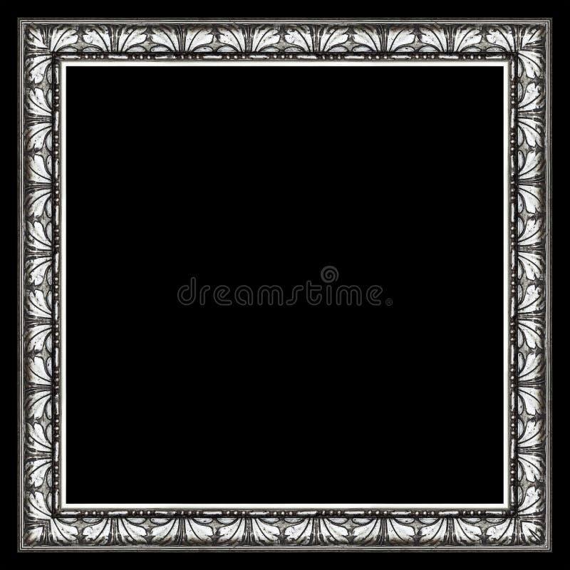 Elegant bildram för mörk silver royaltyfri foto