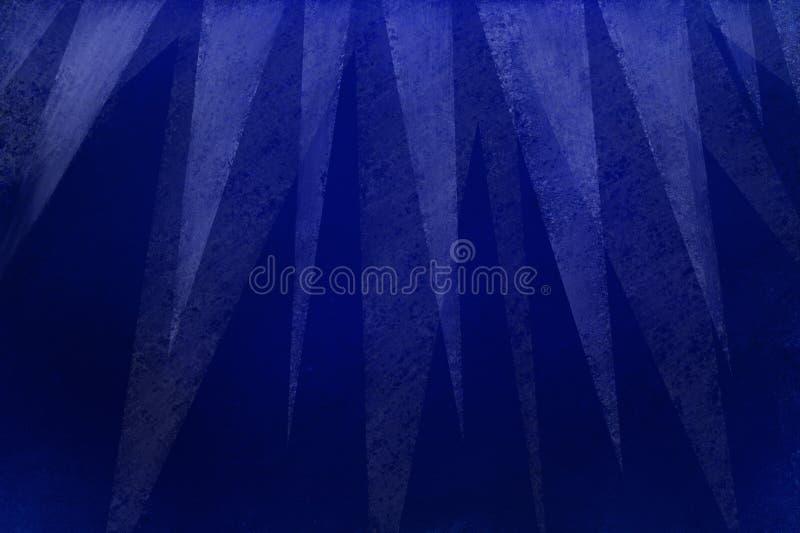 Elegant blå bakgrund med den moderna vita gränsen för triangellager överst med textur i geometrisk bakgrundsdesign vektor illustrationer