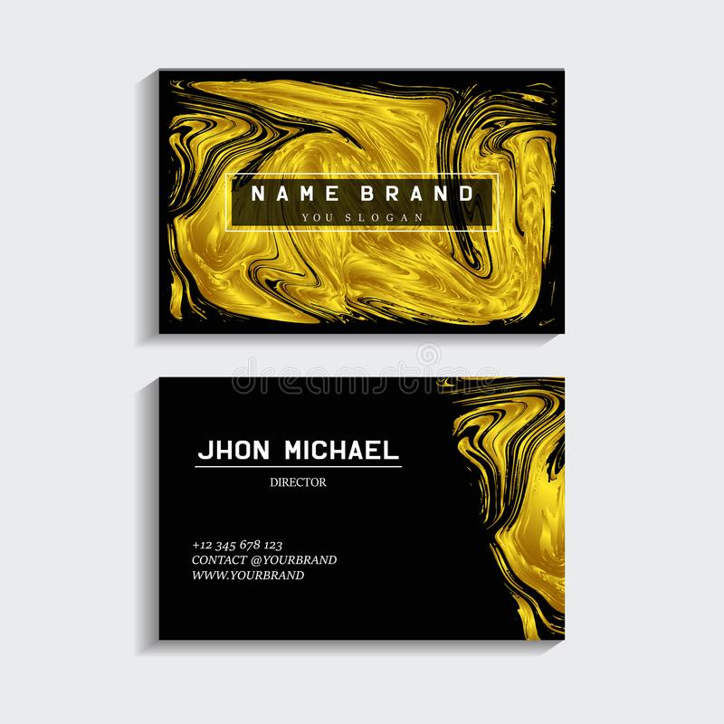 Black and gold business card stock illustration