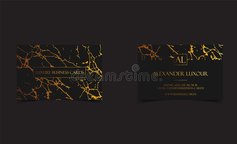 Elegant black luxury business cards with marble texture and gold download elegant black luxury business cards with marble texture and gold detail vector template banner reheart Gallery