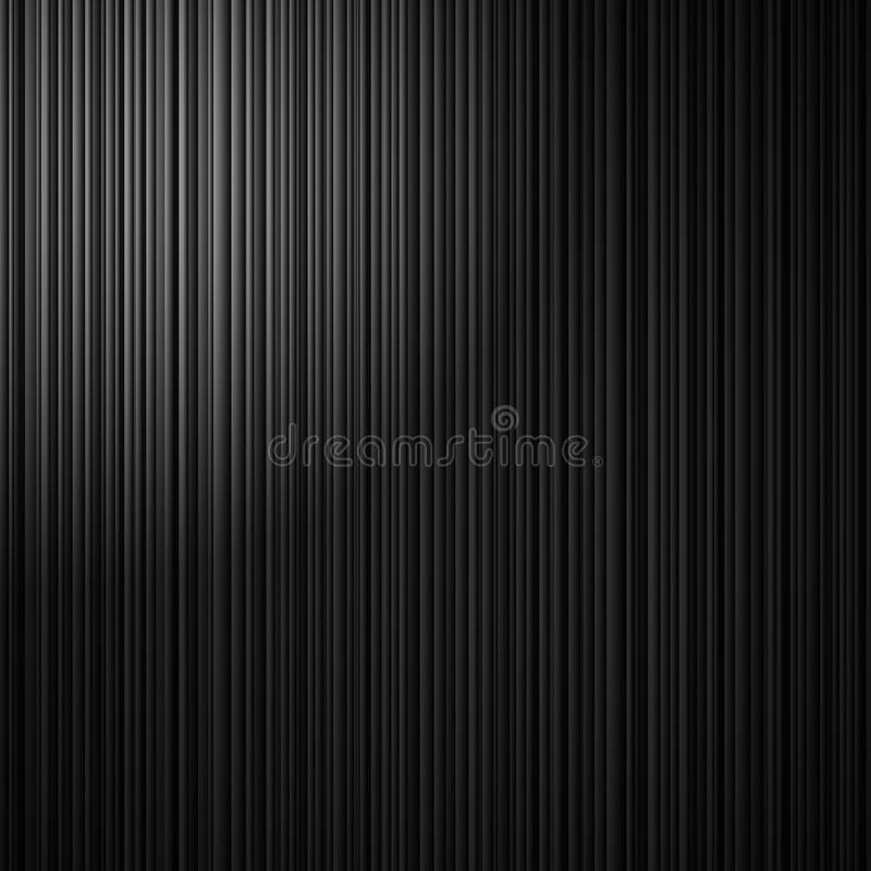 Elegant black striped background with abstract vertical lines and white corner spotlight royalty free illustration