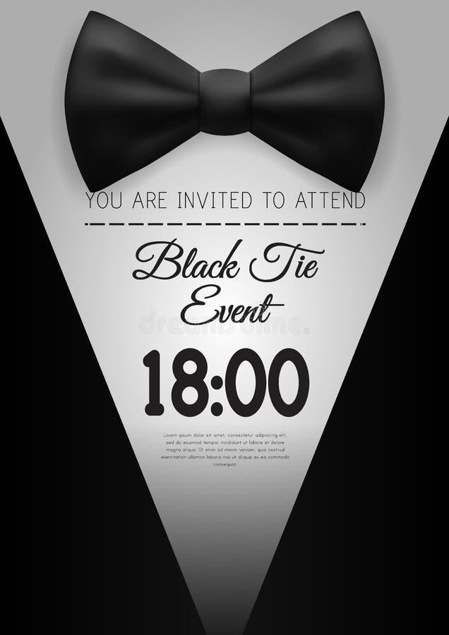 A4 elegant black tie event invitation template stock vector download a4 elegant black tie event invitation template stock vector illustration of illustration best stopboris Images