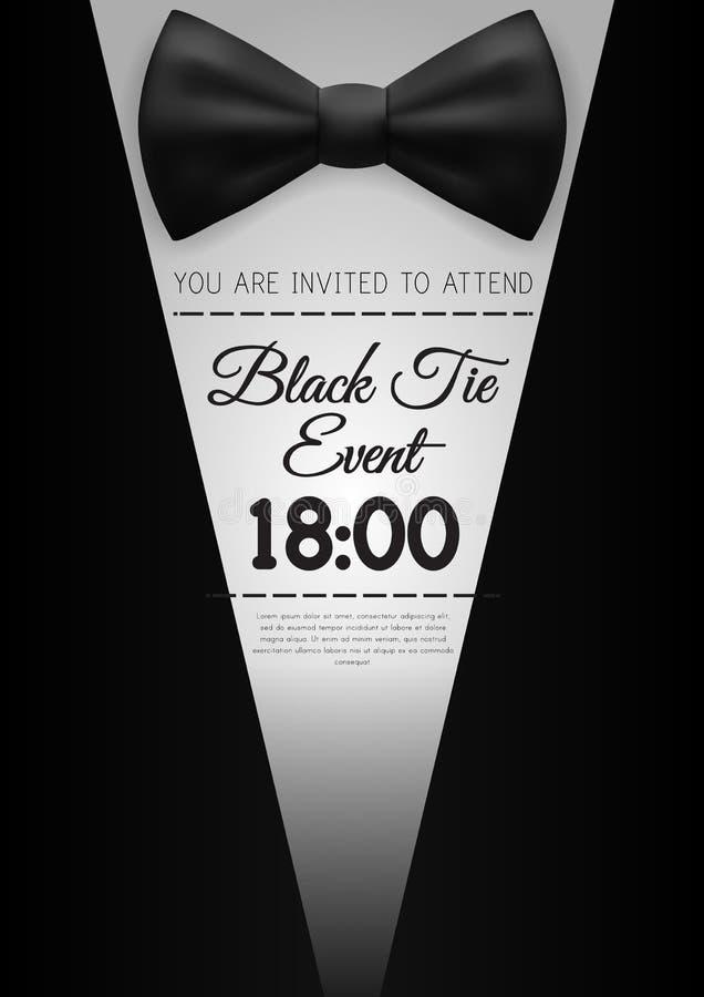 A4 elegant black tie event invitation template stock illustration download a4 elegant black tie event invitation template stock illustration illustration of formal bowtie stopboris Images