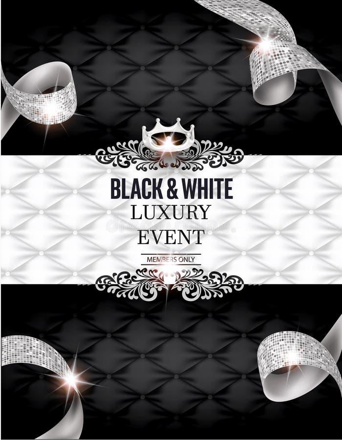 Elegant BLACK & WHITE Luxury Event Invitation Card With ...Black And White Elegant Backgrounds