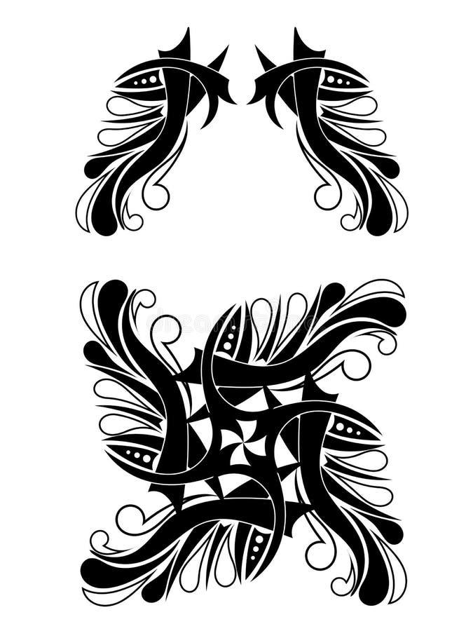 elegant black white tribal tattoo design stock vector image 62401107. Black Bedroom Furniture Sets. Home Design Ideas
