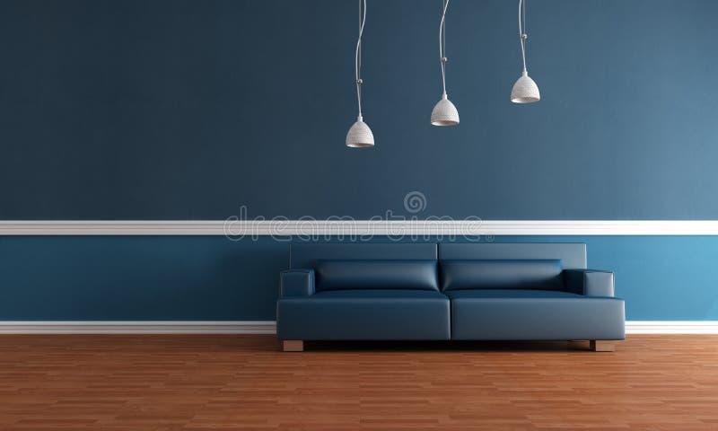 Elegant blauw binnenland stock illustratie